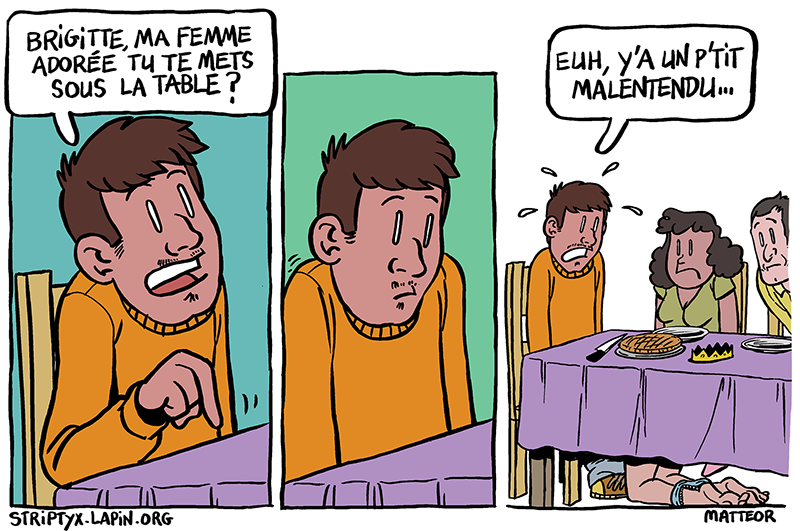 Sous la table